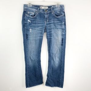 BKE Denim Starlite Bootcut Cropped Jeans Low Rise